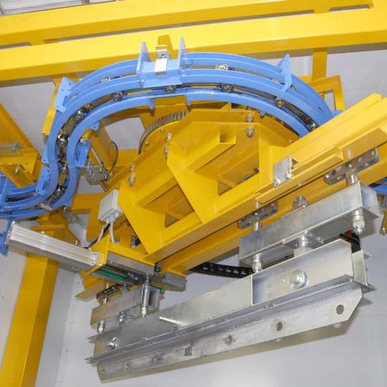Dispositivi di rotazione per ganci girevoli